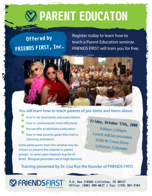 Friends First Flyer Full Page