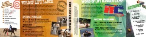 Word of Life Ranch Promotional Mailer Inside