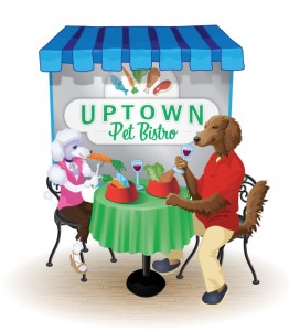 Illustration for Uptown Pet Bistro Identity